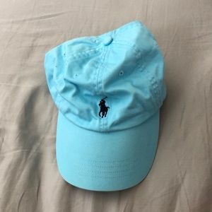 blue polo hat